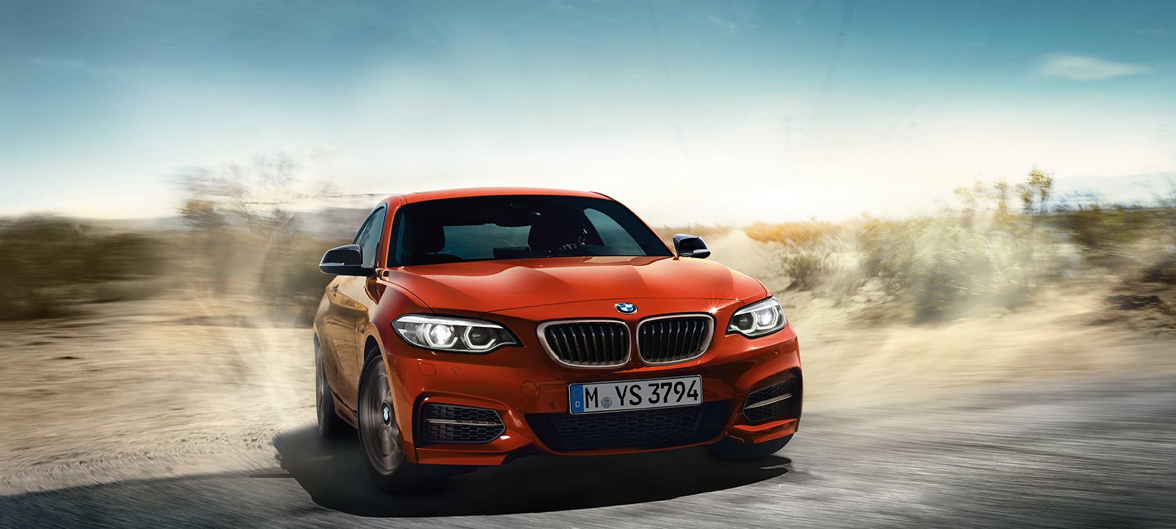 BMW Serie 2 Coupé, ripresa dinamica in movimento